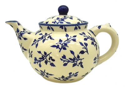 Bunzlauer Teekanne 1,2 L-C-017, Dekor Lisa - 2.Wahl