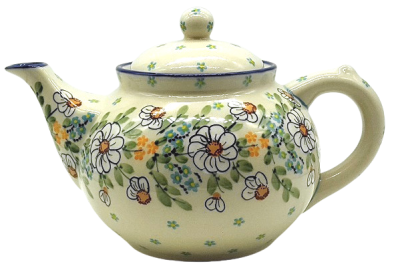Bunzlauer Teekanne 1,2 L-C-017, Dekor Jasmin