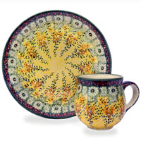 Polish Pottery pattern golden shower