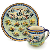 Polish-Pottery-storch-design
