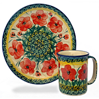 Polish-Pottery-design-Poppies