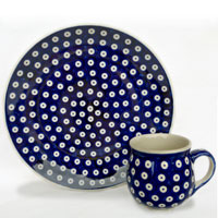 Polish Pottery classic design bluespot