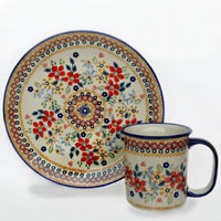 Polish-Pottery-design-floral-bouquet-2