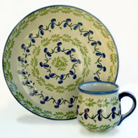 Polish Pottery olive design