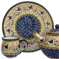 Polish Pottery Signature Design Papillon