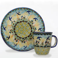 Polish Pottery Design Swallow