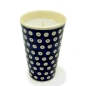 Preview: Polish Pottery Aroma Candle Vanilla and Cinnamon, Bluespot Pattern