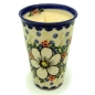 Preview: Polish Pottery Aroma Candle Vanilla and Cinnamon, white flower