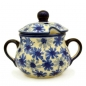 Preview: Polish Pottery sugar jar Kornblumen design