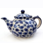 Mobile Preview: Polish Pottery Teapot 6 cups cornflower design
