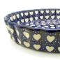 Preview: Polish Pottery pie dish medium size heart design