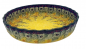 Mobile Preview: Bunzlauer Quiche-Form 23 cm-F-048, Dekor Goldregen