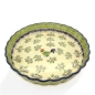 Preview: Polish Pottery pie dish medium size, Bianca design