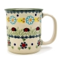 Mobile Preview: Polish Pottery Mug Straight - Pattern Marienkäfer
