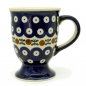 Preview: Polish Pottery Capuccino Mug - Pattern Kranz