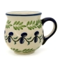 Preview: Polish Pottery Mug Round (s) in Pattern Olive