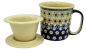 Mobile Preview: Polish Pottery Mug Straight (l) Pattern Leonie