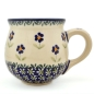 Preview: Polish Pottery belly mug medium size, angelika design