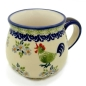 Preview: Polish Pottery Belly Mug, round, Pattern Bianca