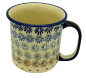 Mobile Preview: Polish Pottery Mug Straight (l) - Pattern Astern - 2.Qual.