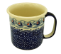 Preview: Polish Pottery Mug Straight Large Pattern Ahoi