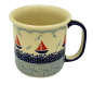 Mobile Preview: Polish Pottery Mug Straight Large Pattern Sail