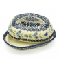 Preview: Polish Pottery Butterdish with large handle in Pattern Agnes