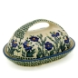 Preview: Polish Pottery butterdish oval in pattern Bianca