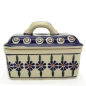 Mobile Preview: Polish Pottery Butter Box - Pattern Bunzlauer Flower