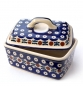 Preview: Polish Pottery butter box garland design