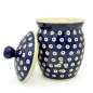 Preview: Polish Pottery garlic jar with lid and holes for circulation