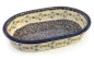 Preview: Polish Pottery baking dish oval 32 cms, harebell design