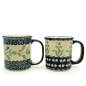 Preview: Polish Pottery set of two mugs Agnes and Glockenblume