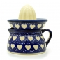 Preview: Polish Pottery lemon squeezer love hearts pattern