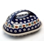 Preview: Polish Pottery butter dish large handle garland design