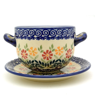 Polish Pottery soup dish Dekor Adelheid