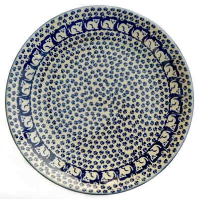 Polish Pottery Dinner Plate Pattern Garfield