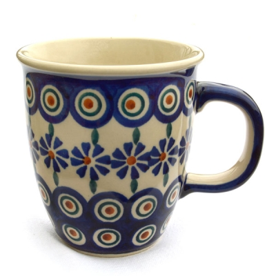 "Polish Pottery ""Mars"" Mug Pattern Polish Flower"