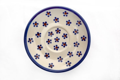 Polish Pottery saucer for mugs Margerita design