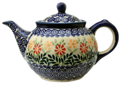 Polish Pottery Teapot - Pattern Adelheid