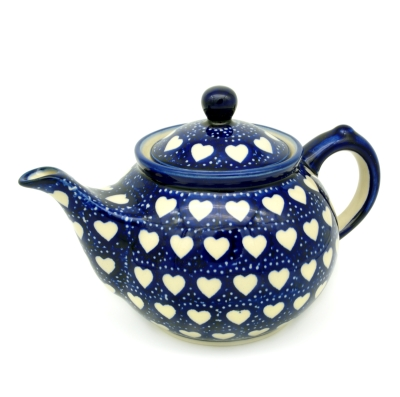 Polish Pottery Teapot - Pattern Heards