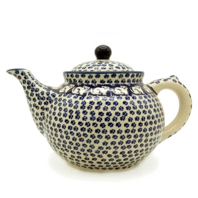 Polish Pottery Teapot 1.2 litre - Pattern Garfield