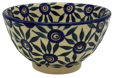 Polish Pottery Rice Bowl in Pattern Astrid
