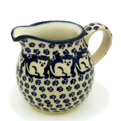 Polish Pottery Creamer - Pattern Garfield
