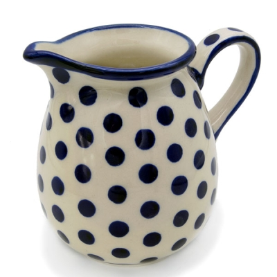 Polish Pottery jug one pint polka design