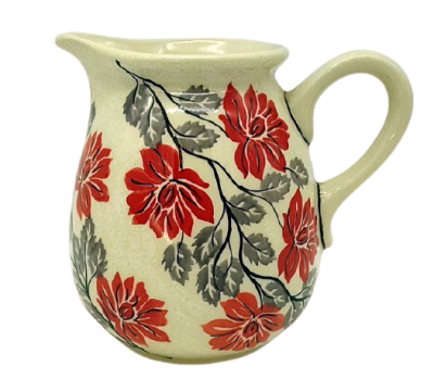 Polish Pottery jug one pint Angela design