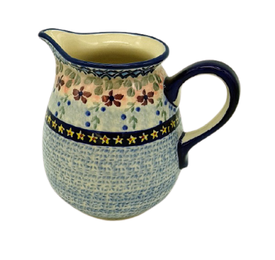 Polish Pottery jug one pint Azur design