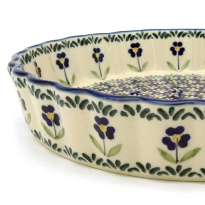 Polish Pottery pie dish medium size Angelika design