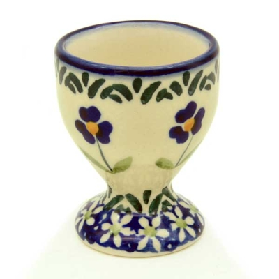 Polish-Pottery-egg-cup-field-of-flowers-pattern