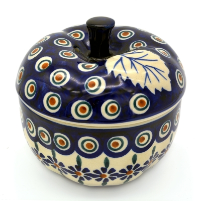 Polish Pottery apple baker Bunzlau Flower design